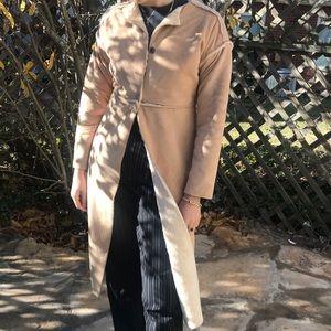 Vintage Super soft suede like knee length coat
